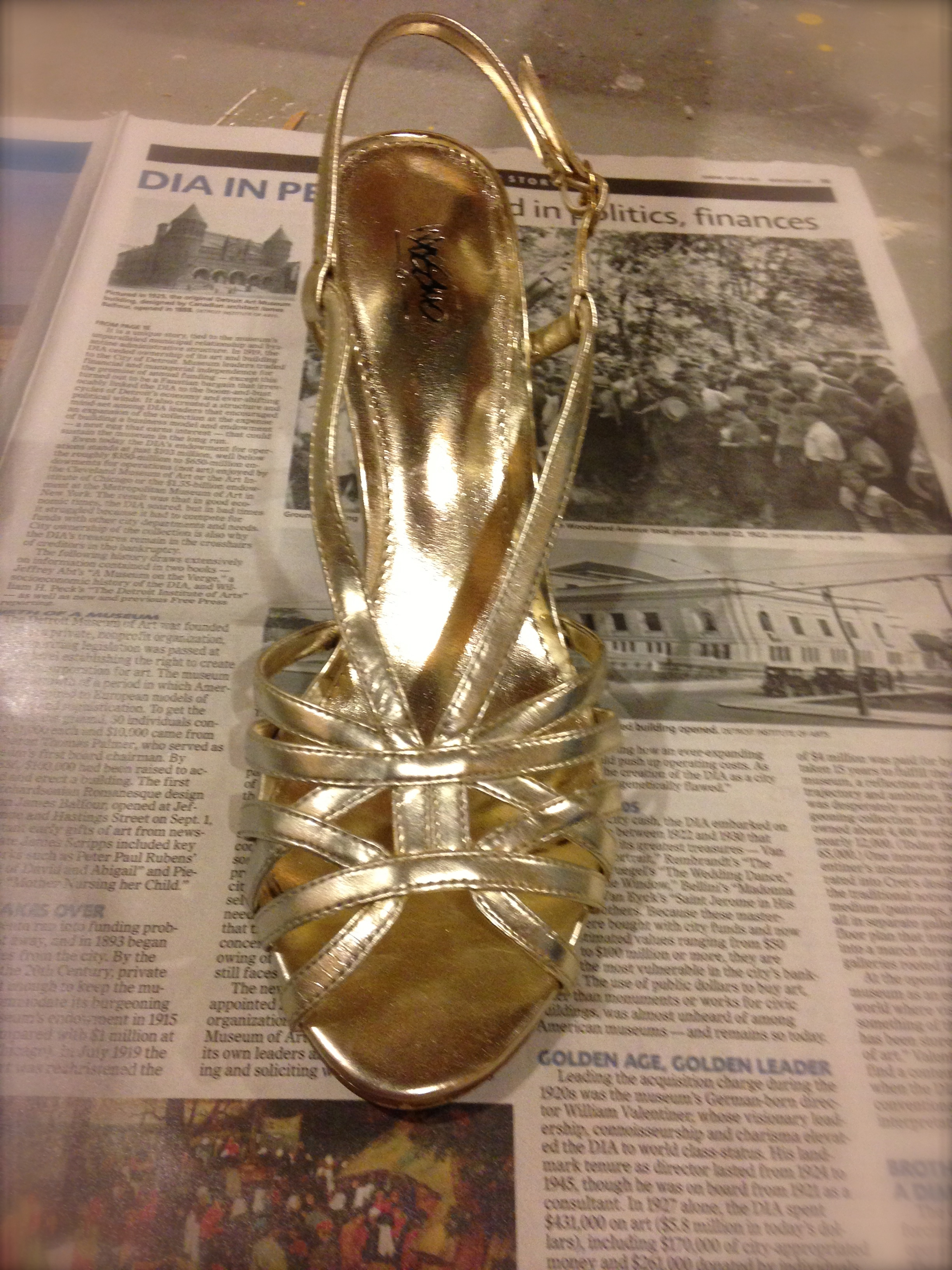 next i stuffed the shoe with newspaper you could also use painters. Black Bedroom Furniture Sets. Home Design Ideas