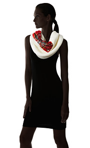 Betsy Johnson Plaid Infinity Scarf