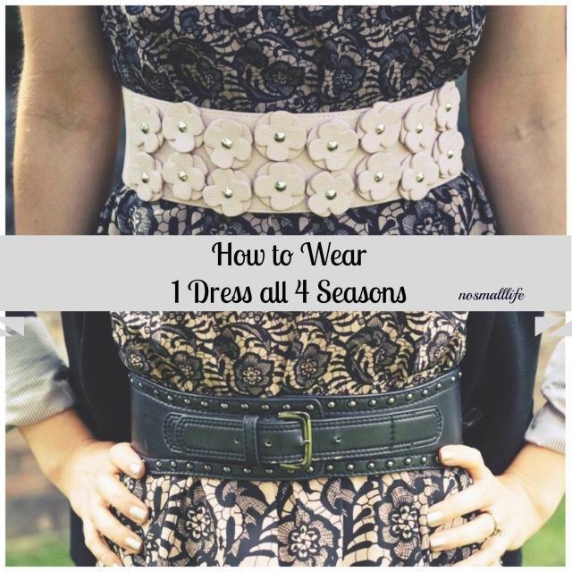 1 dress 4 seasonsdouble belt