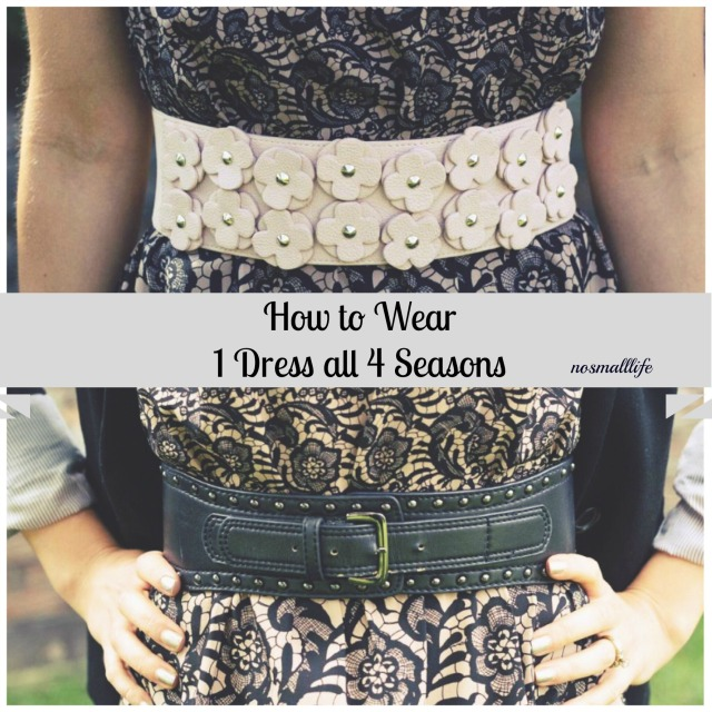 1 dress 4 seasonsdouble belt