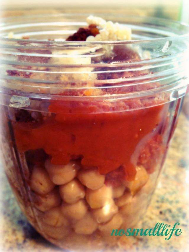 Savory Pumpkin Hummus- meganreablog & nosmalllife.me