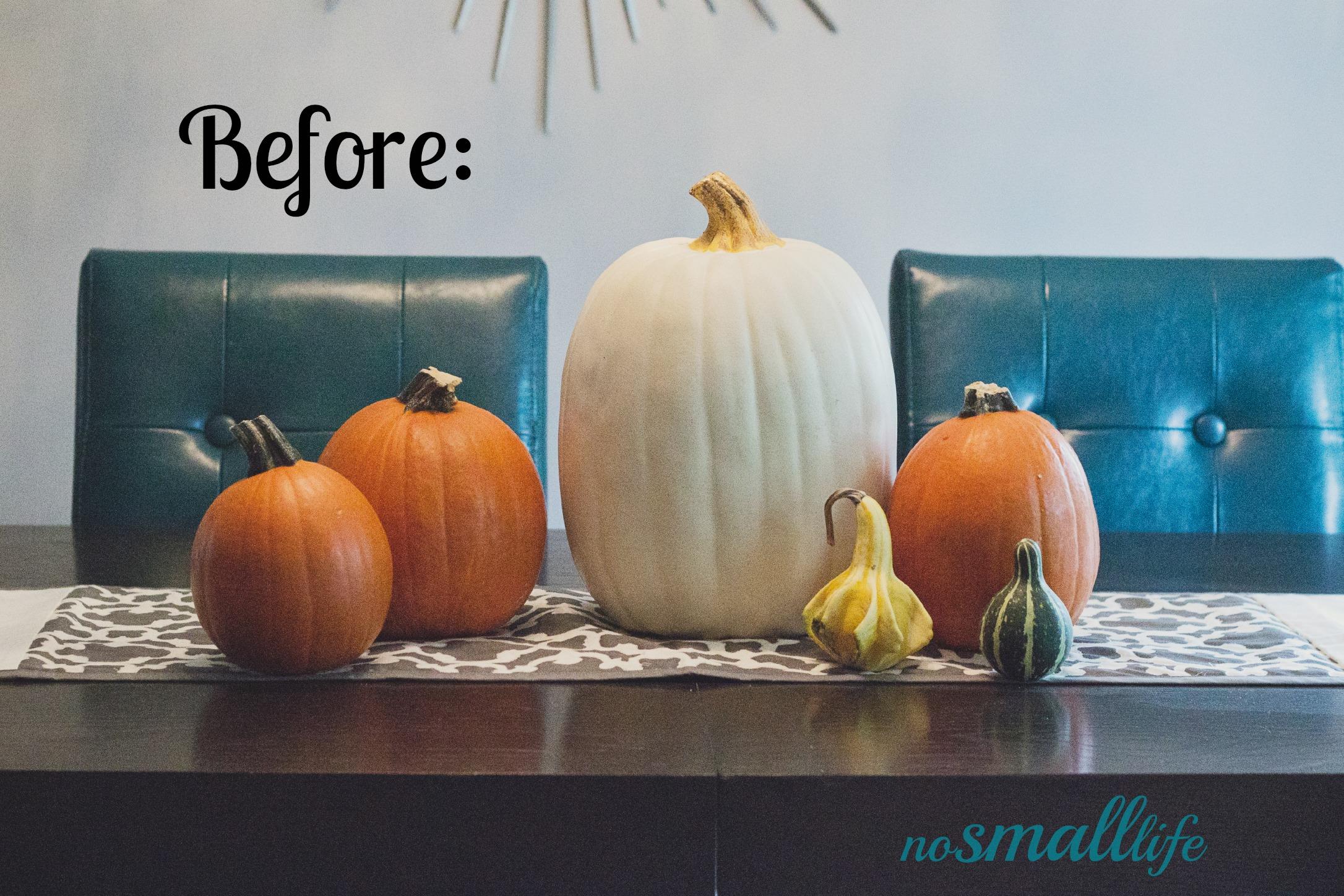Pumpkin before