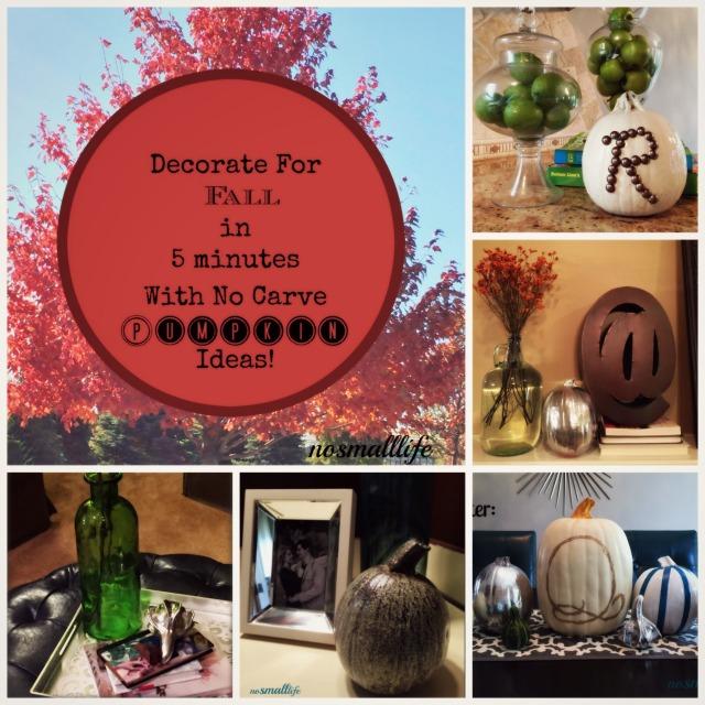 5 Easy No-Carve Pumpkin Ideas