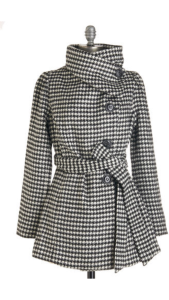 Love Stitch Carefully Chosen Coat in Houndstooth-Modcloth