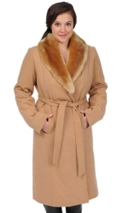 Excelled faux-wool swing coat in Camel