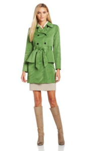 Green Kensie Trench Coat
