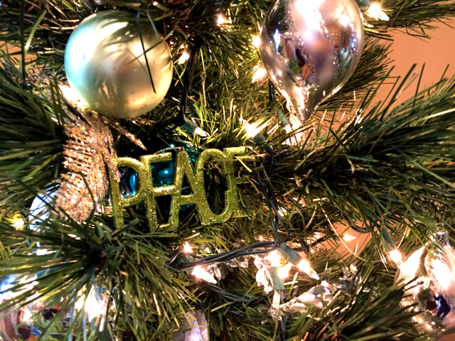 Target Green Peace ornament