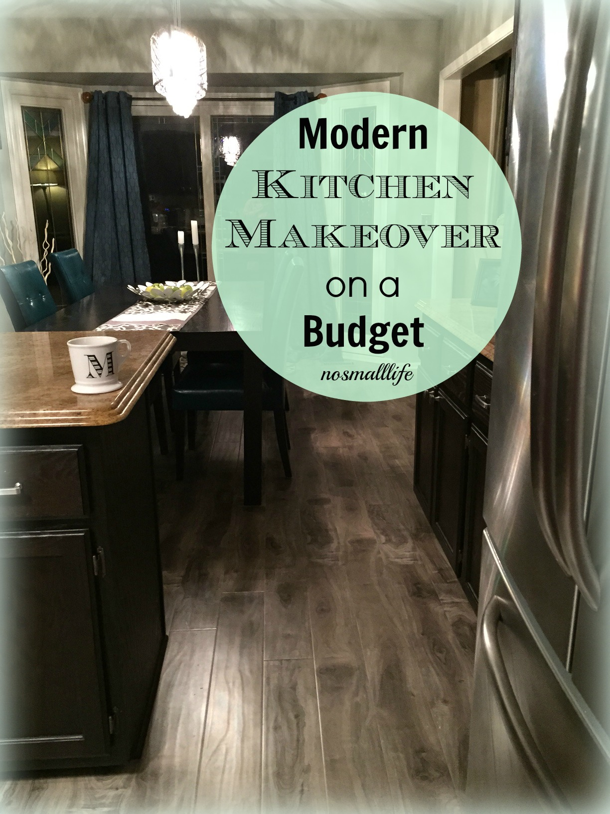Modern kitchen makeover on a budget for Kitchen makeovers on a budget