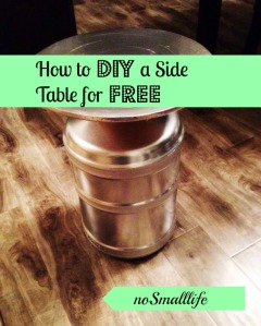 How to make a DIY Side Table for FREE