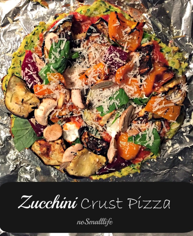 The Best Zucchini Crust Pizza
