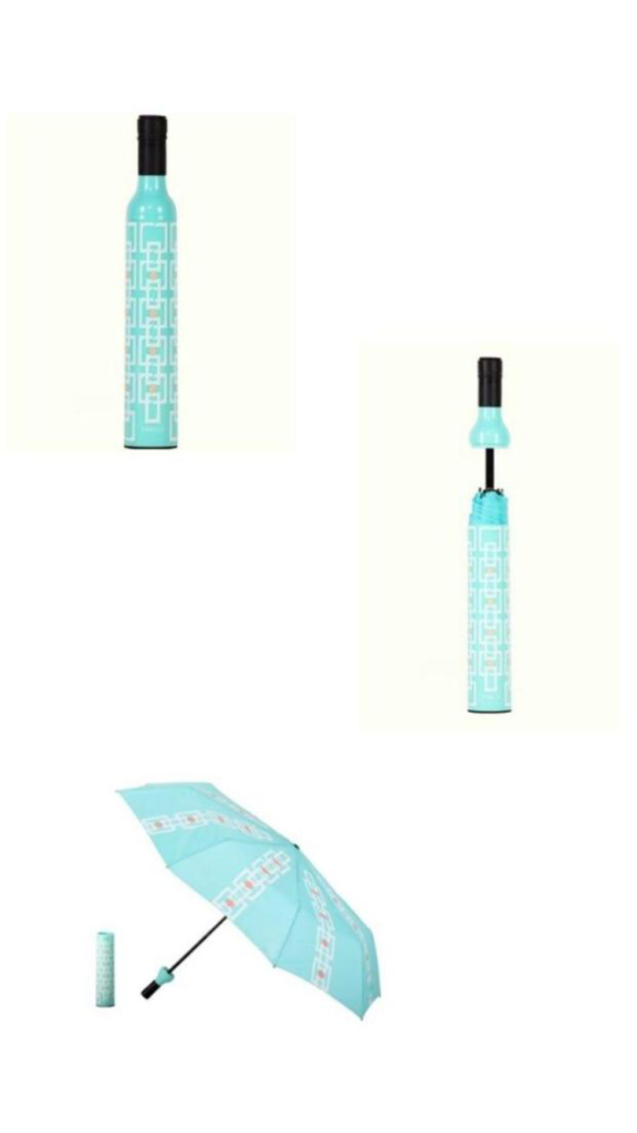 Teal Bottle Umbrella Tote