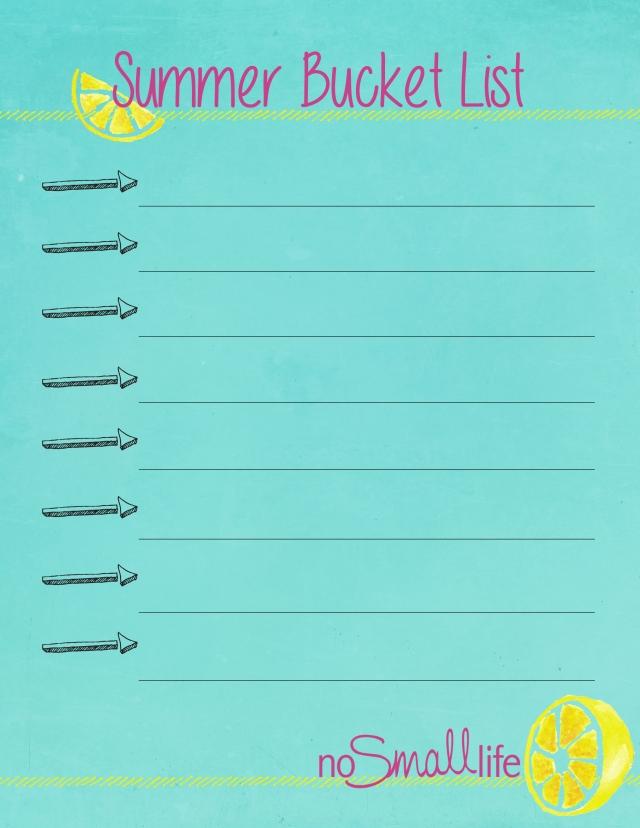Make 2015 the BEST SUMMER EVER with a Summer Bucket List