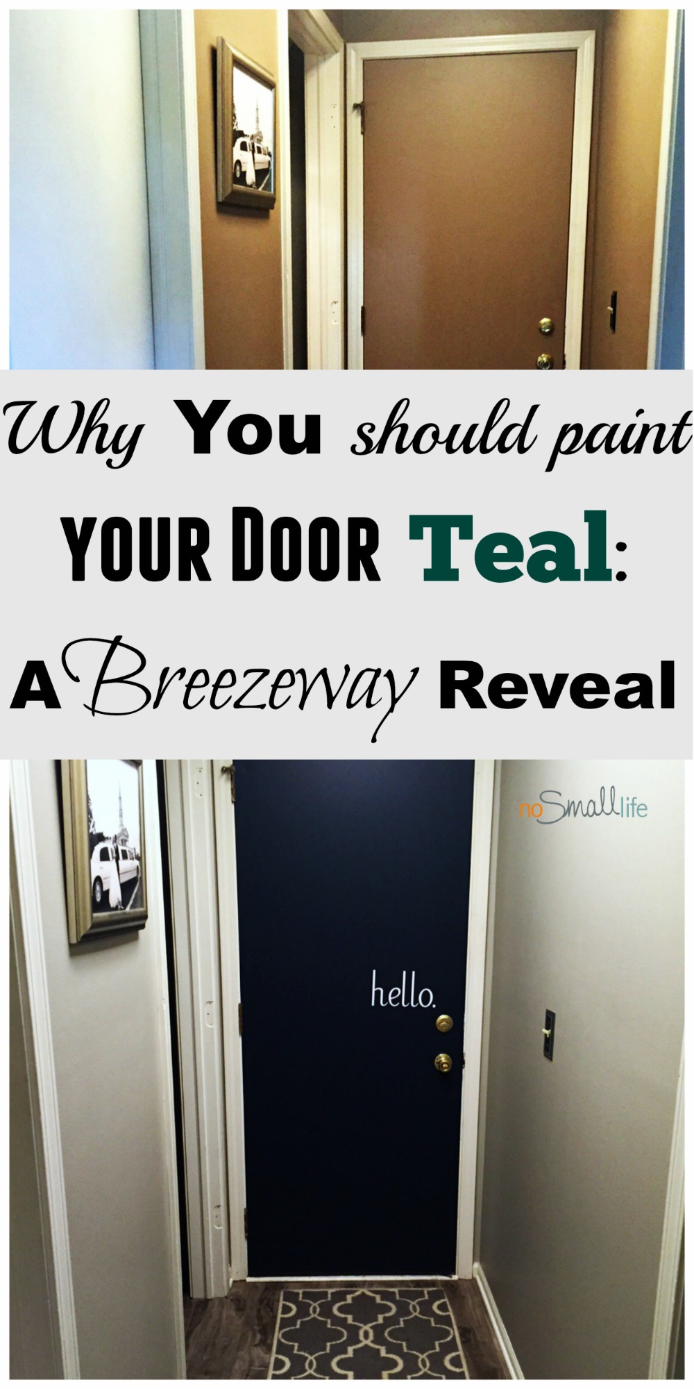 Transform your interior\u0027s with painted doors & Why you should paint your Door Teal: A Breezeway Reveal \u2013