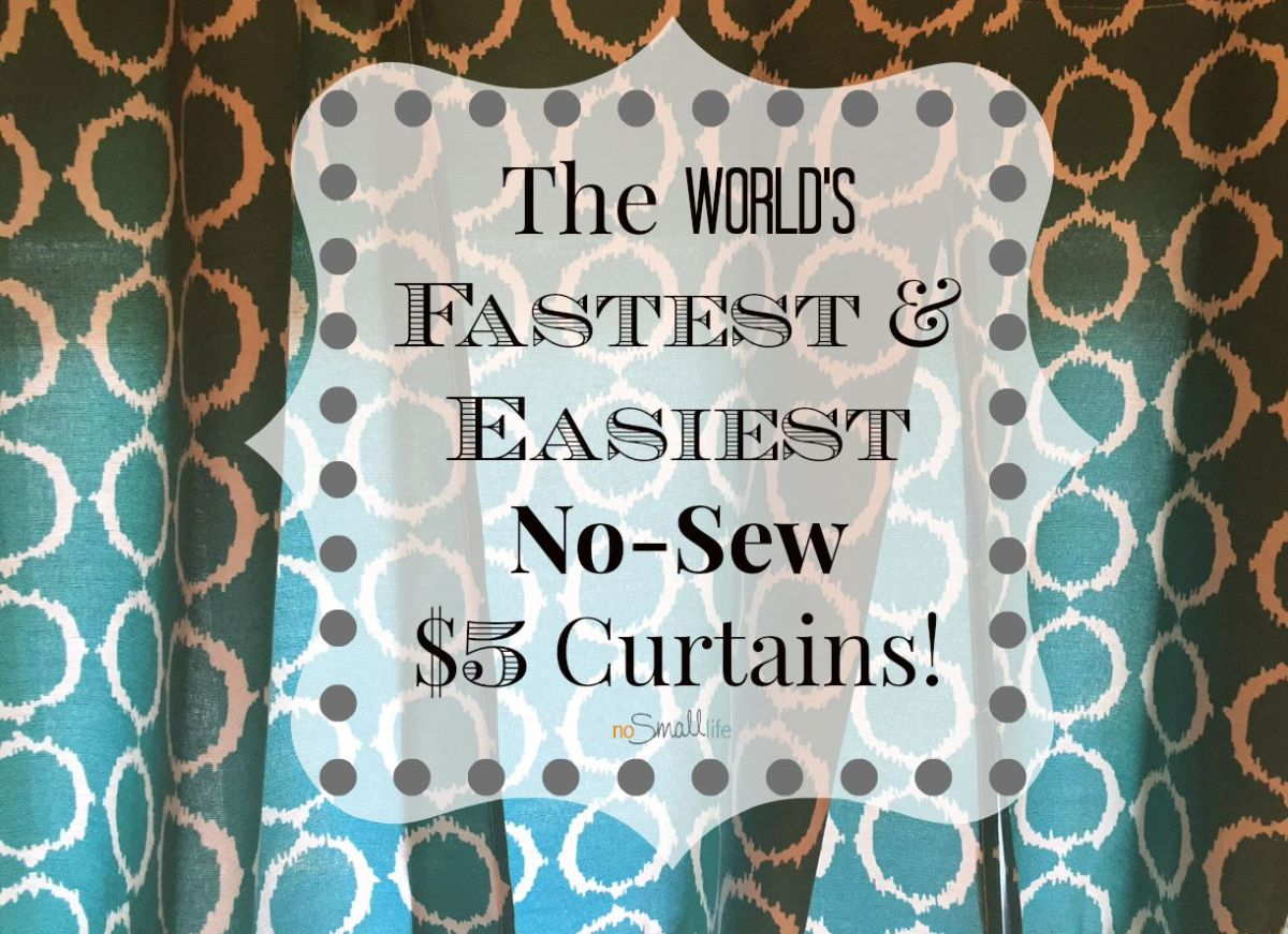 The World's Fastest & Easiest No-Sew $5 Curtains!