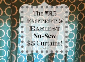 Easy No-Sew Window Treatments
