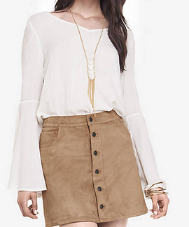 Fall Fashion: Express Suede Skirt