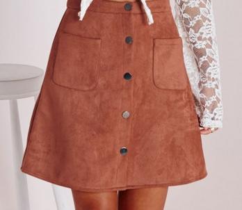 A-line Suede Skirt under $50
