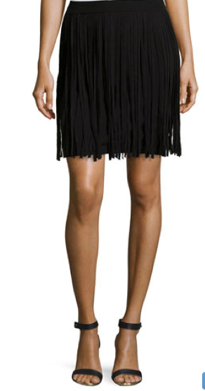 Black Fringe Skirt-Fall Fashion 2015-NoSmallLife