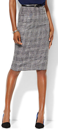 Plaid Pencil Skirt-NY&C