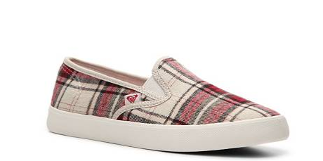 Roxy Ventura Plaid Slip on Sneaker