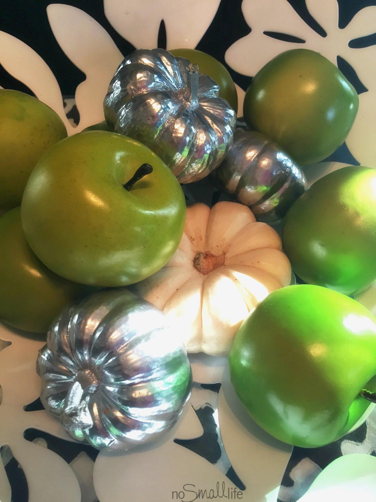 Apples & Spray-Painted Pumpkins