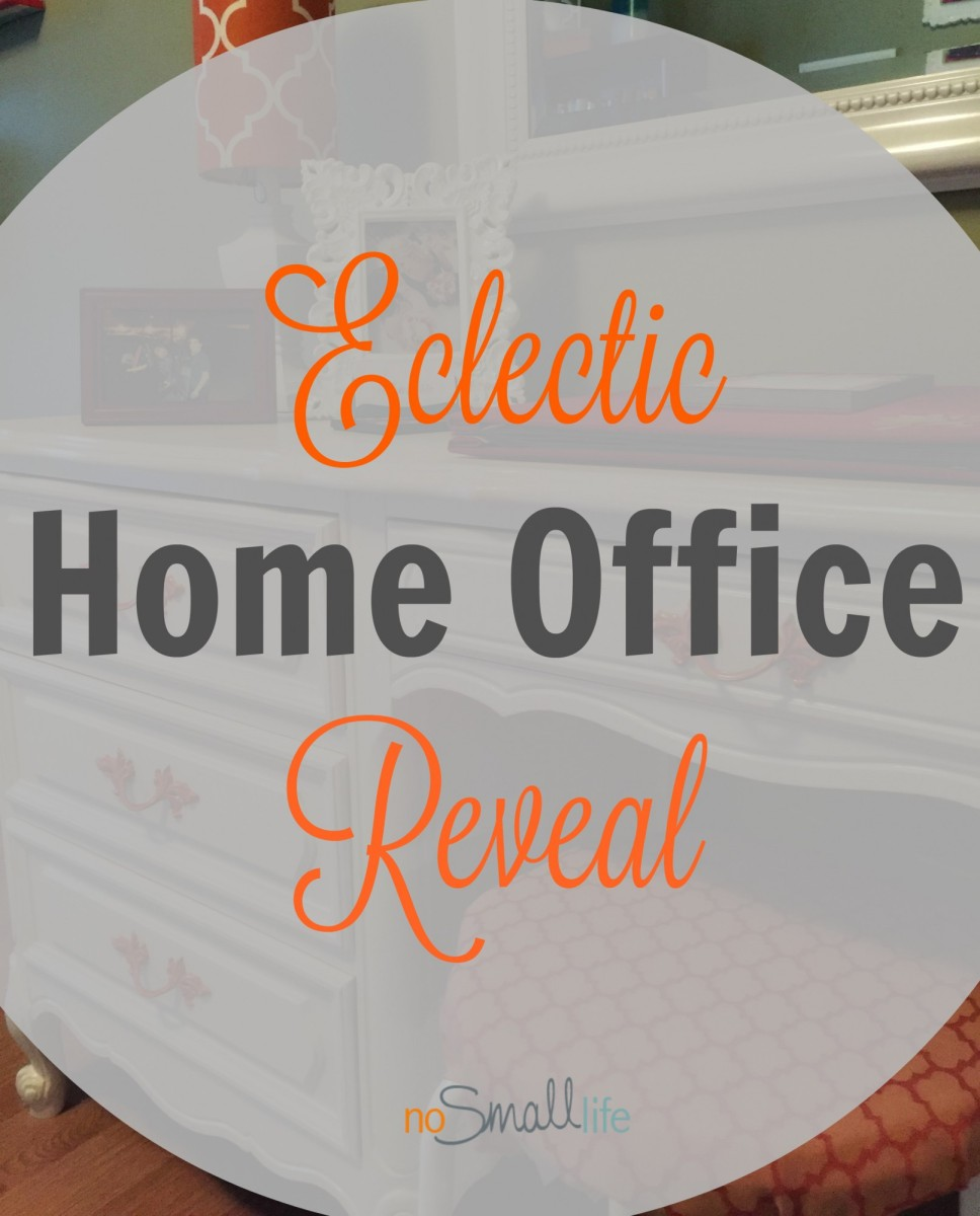 Eclectic Home Office Reveal