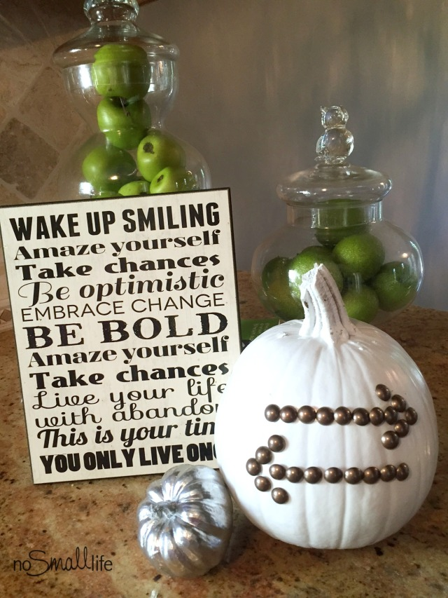 Nail Head Trim Pumpkins