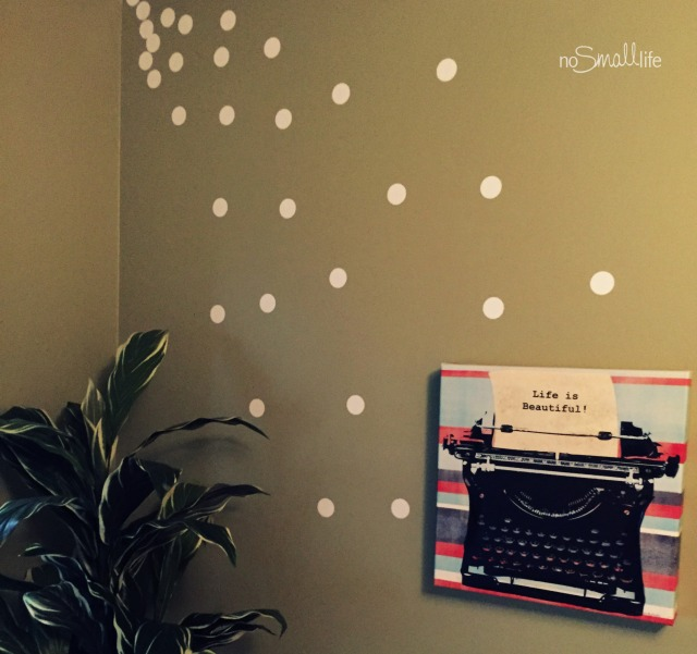 White Polka Dot Wall Decal