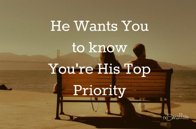 Priorites in Marriage