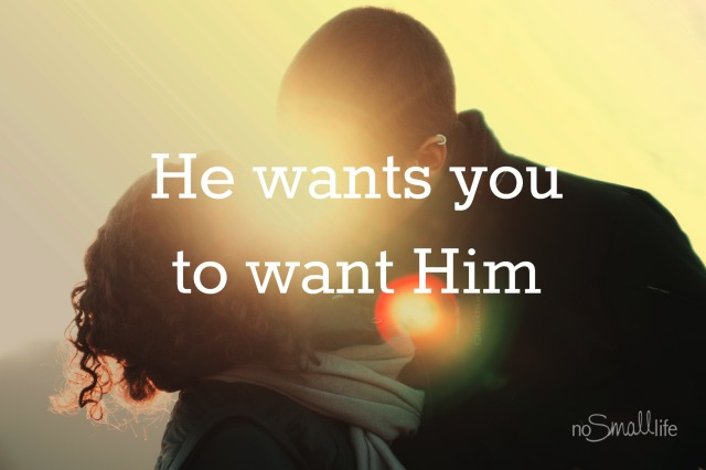 He wants you to want Him-NoSmallLife