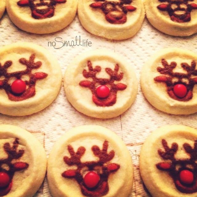 Slice & Bake Reindeer Cookies
